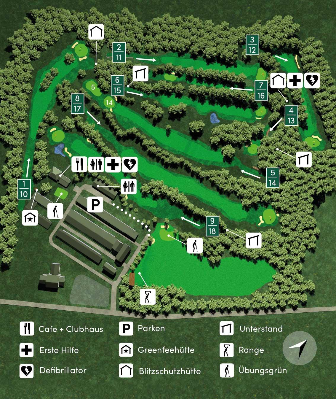 Gesamtübersicht Golfclub Werl