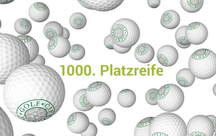 Die 1000. Platzreife beim Golfclub Werl